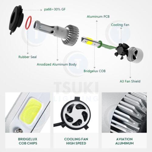 TSUKI FC H11 Low-Beam 6500K 2011-2016 Honda Odyssey LED Headlight Bulbs