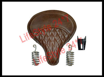 Royal Enfield Classic Bullet Bike 350cc 500cc Front Tan Color Seat With Spring