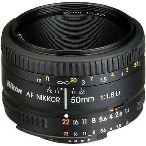 Nikon-Nikkor-AF-D-50mm-1-1-8D-lens-fits-F6-D5-D600-D7100-Df-D850-D7200-camera