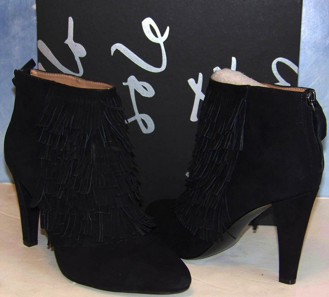 NIB BANANA REPUBLIC schwarz suede DARCEY Darcy BOOTIE ankle BOOTS Größe 9.5