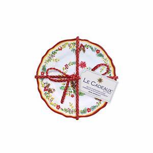 Image is loading Le-Cadeaux-Noelle-Triple-Quality-Holiday-Melamine-4PC-  sc 1 st  eBay & Le Cadeaux Noelle Triple Quality Holiday Melamine 4PC Appetizer ...