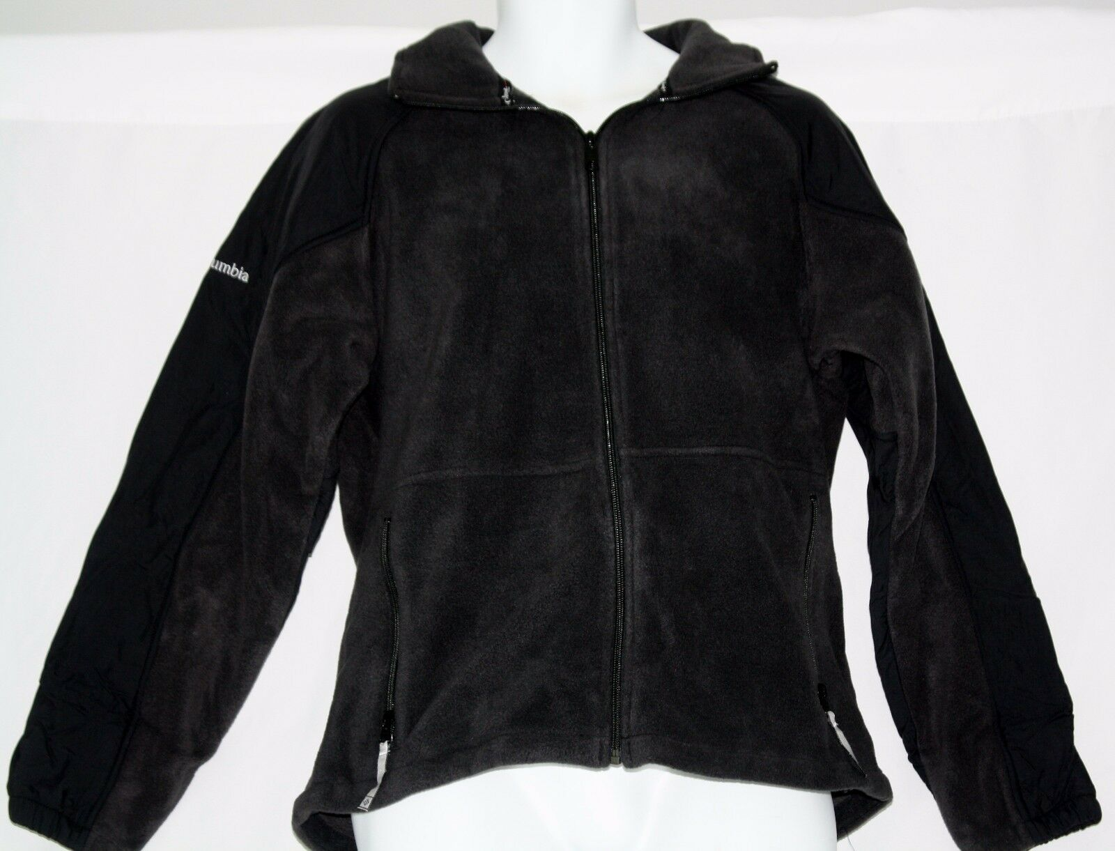 Sizes S /& M Columbia Men/'s Flattop Ridge Black Fleece Jacket NWT XM1571-010