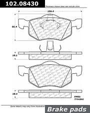 Disc Brake Pad Set-C-TEK Metallic Brake Pads Front Centric 102.08430