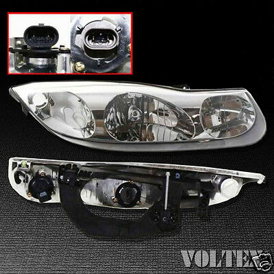 2001-2002 Saturn SC1 SC2 Headlight Lamp Clear lens Halogen Passenger Right Side