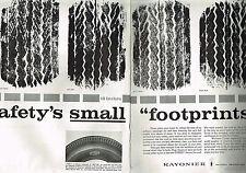 PUBLICITE ADVERTISING    1959   USA  TYREX  pneus  (2 pages)