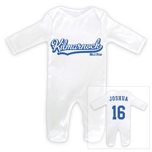 KILMARNOCK Football Personalised Baby SleepSuit Romper