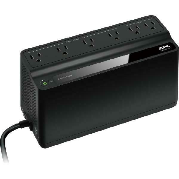 UPS Battery Backup Surge Protector 6 Outlet Power Supply Back Up System PC TV
