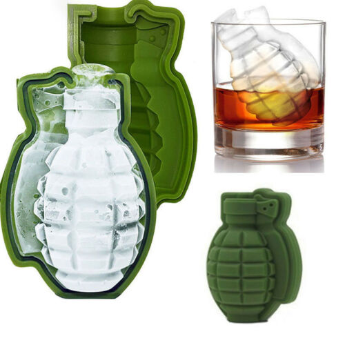 Ice Cube Tray Mold New 3D Grenade Ice Cream Maker Party Drinks Silicone Trays