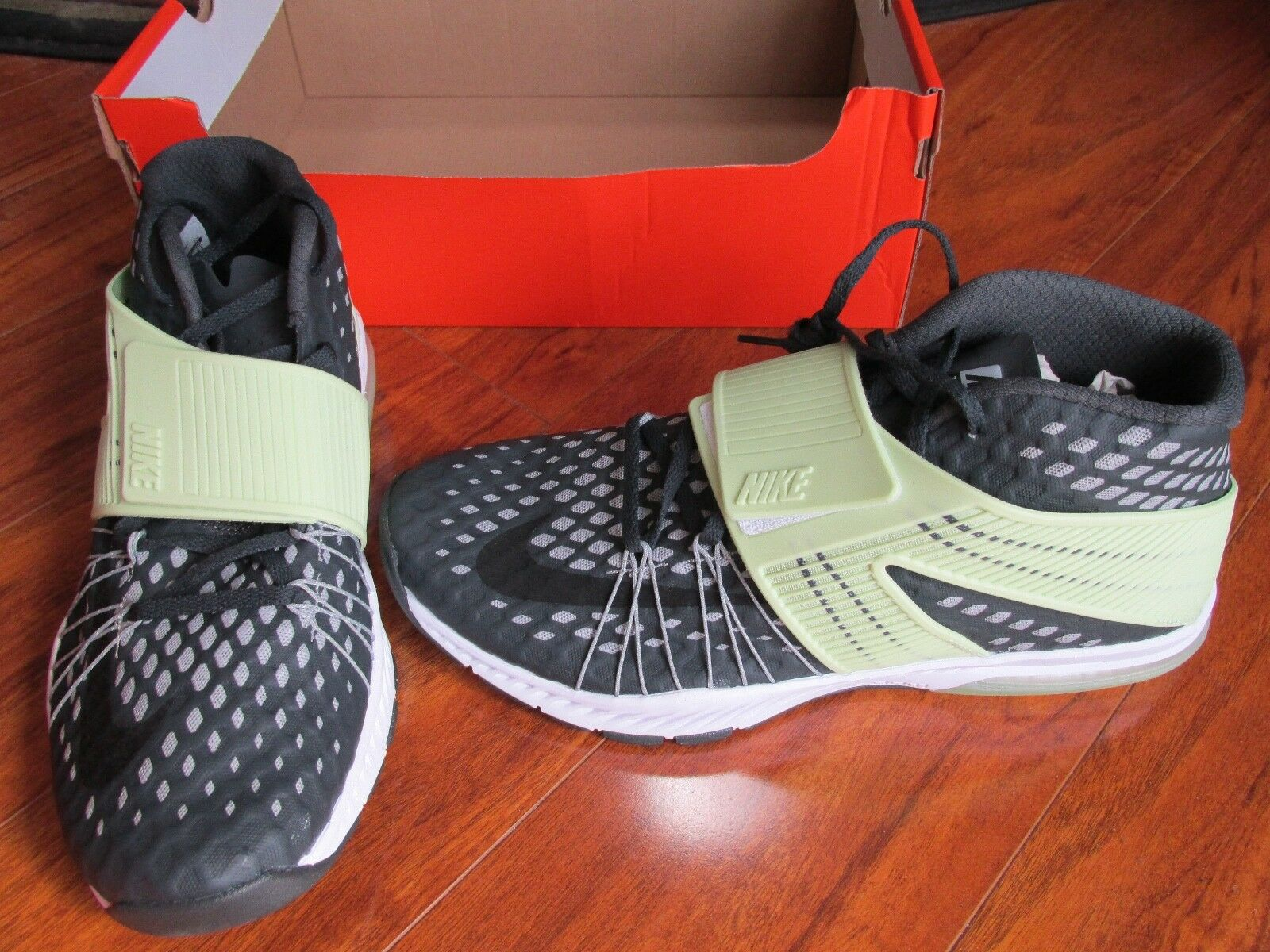 NEW NIKE Zoom Train Toranada AMP Training Shoe Men 10.5 Grey Green 848507 $150.
