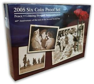 Australia-2005-Peace-Remembrance-60th-Anniv-The-End-of-WWII-6-Coin-Proof-Set-RAM