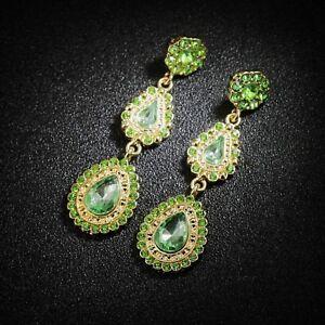 Earrings-Nails-Three-Drops-Green-Long-Original-Marriage-cc-1