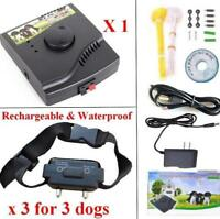 Underground Waterproof Rechargeable Electric Pet Dog Fence training System 3 dog