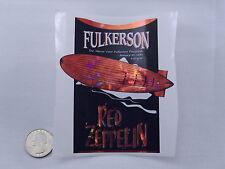Wine Bottle Lables Red Zeppelin Fulkerson Finger Lakes NY #553