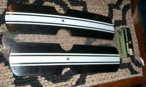 NOS Vintage set of Bmx Old School Plastic Black Fenders