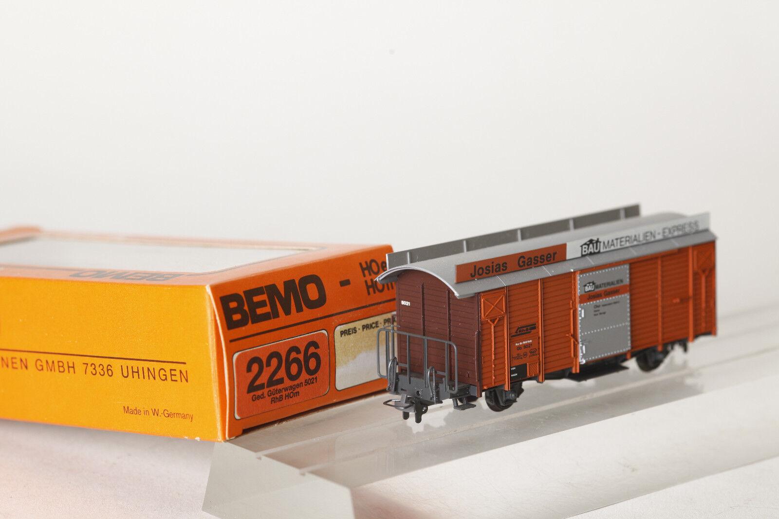 BEMO h0m 2266 121 Ged. carri merci tetto SCUDO J. Gassner GB 5021 della RHB (72197)