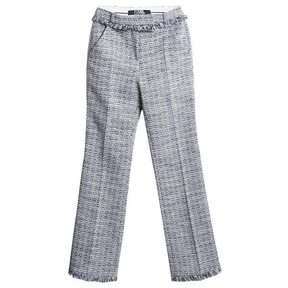 Karl Lagerfeld wide legs boucle pant
