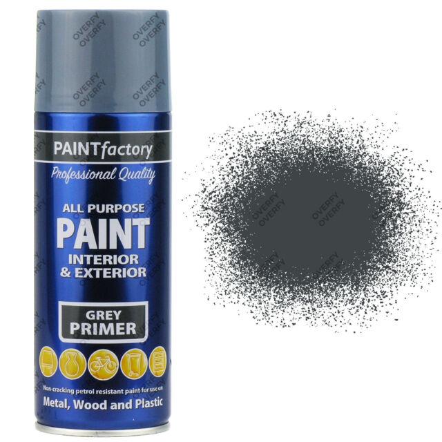 3 x 400ml All Purpose Grey Primer Aerosol Spray Paint Household Car Plastic