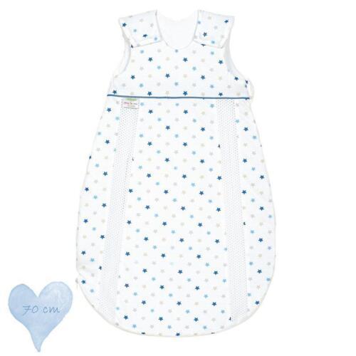 BlauNEU Odenwälder BabyNest Prima Klima Jersey Schlafsack 70cm Sterne Weiß