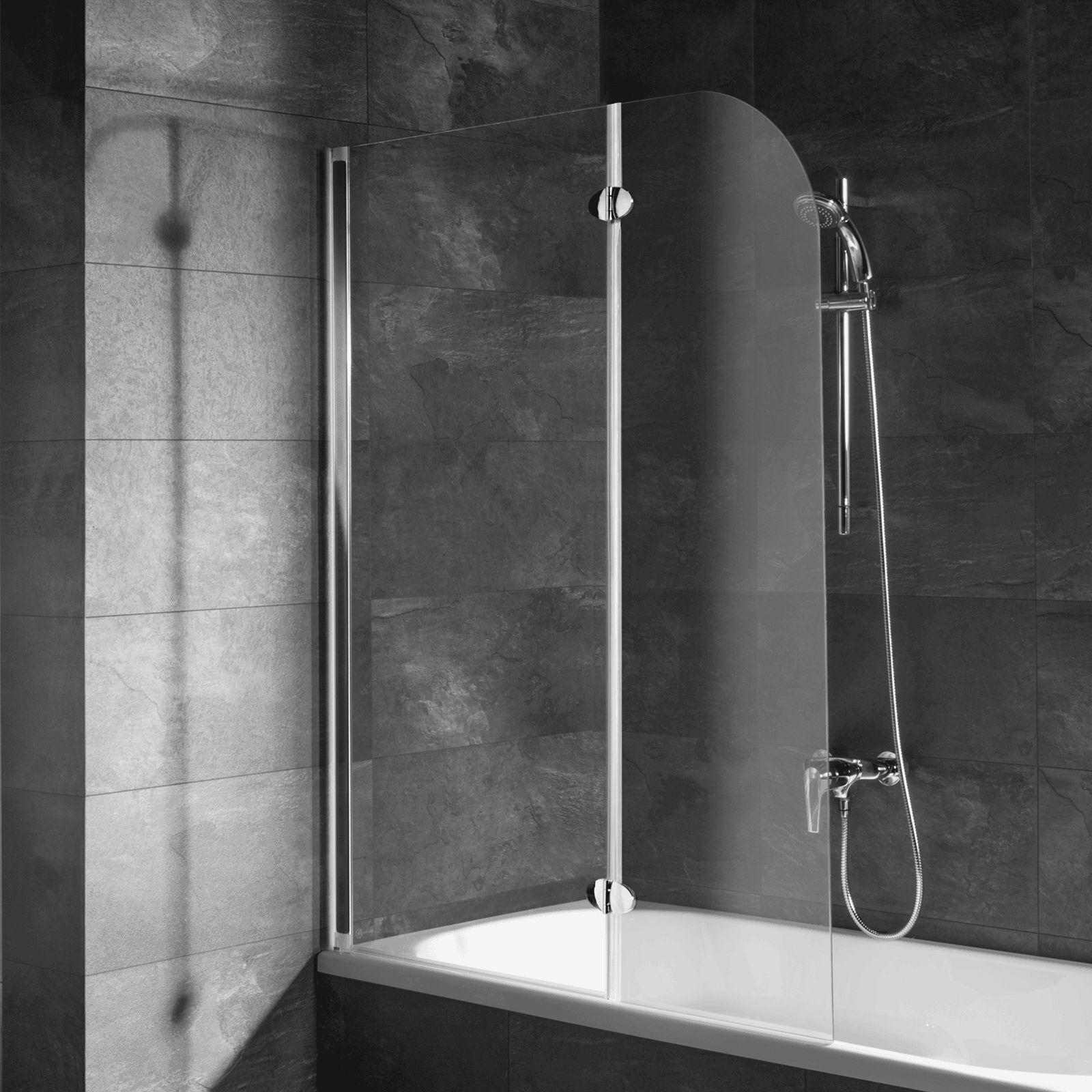 Badewannenaufsatz Faltwand Duschabtrennung Schulte Badewannenfaltwand 2-teilig