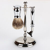 Edwin Jagger 3-piece Chrome Lined Double Edge Shaving Set S81m8911