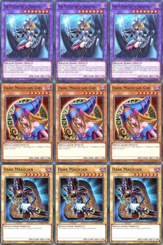 3 X Girl 3 X Dark Magician Girl the Dragon Knight LEDD-ENA36 3X Dark Magician