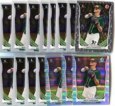 (55) 2014 Bowman Chrome Draft Matt Chapman Lot - Refractors, Silver Ice - A's!!!