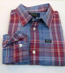 NEW WITH TAGS POLO RALPH LAUREN BOY/'S DRESS SHIRTS-BLUE MULTI CHECKS