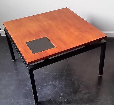 table basse vintage 50s bois metal et formica