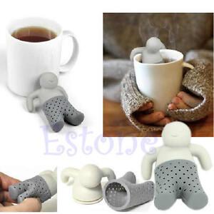 Mr.Tea Infuser Loose Tea Leaf Strainer Herbal Spice Silicone Filter Diffuser