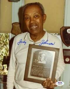 Judy-Johnson-PSA-DNA-Coa-Hand-Signed-8x10-Photo-Autograph