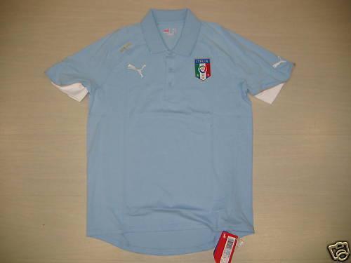 0907 SIZE M ITALY ITALY POLE COTTON REPRESENTATION T-SHIRT JERSEY SHIRT