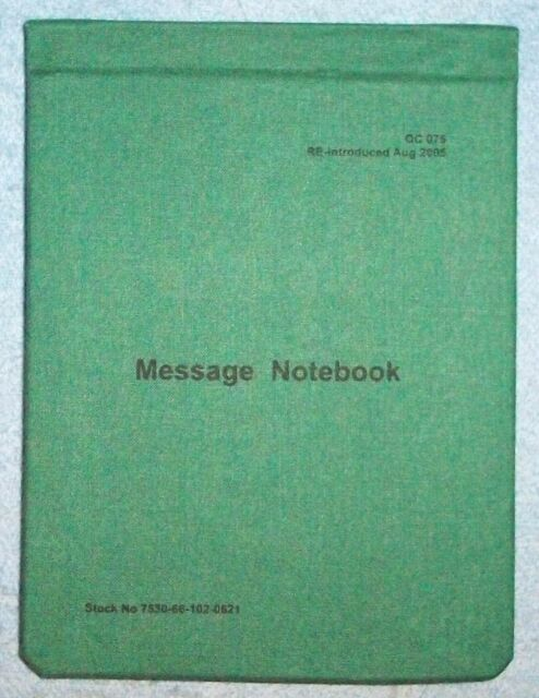 AUSTRALIAN ARMY FIELD MESSAGE NOTEBOOK - DIGGER'S WRITING PAD