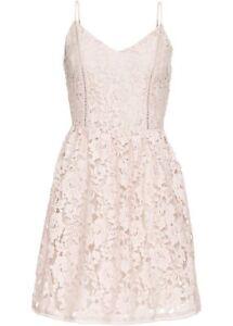 spitzenkleid gr. 54 rosa partykleid abendkleid mini