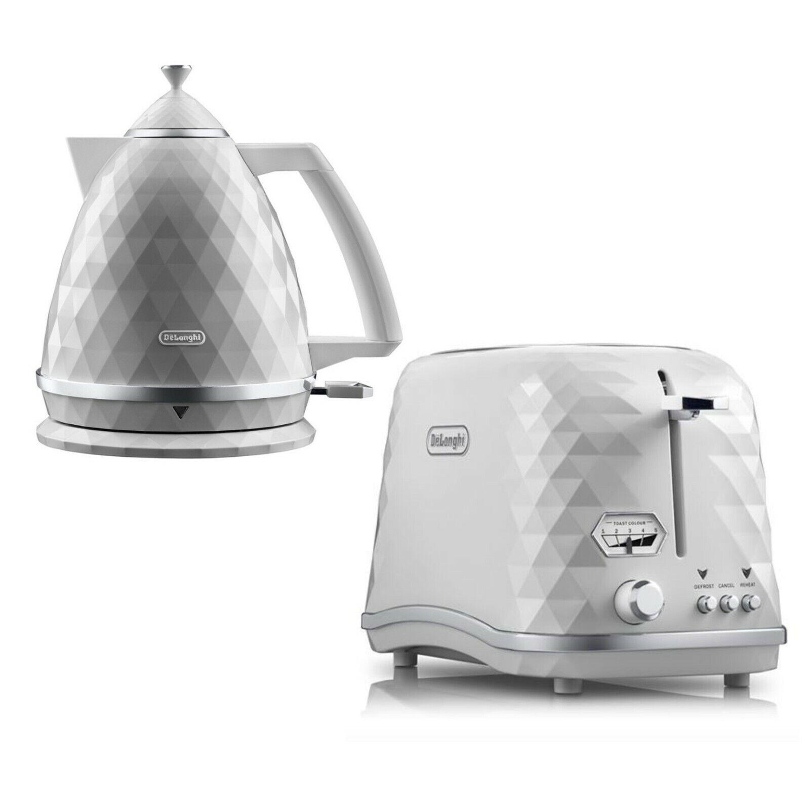 Delonghi Brilliante Exclusive Kettle + 2-Slice Toaster Set - blanc - Brand New