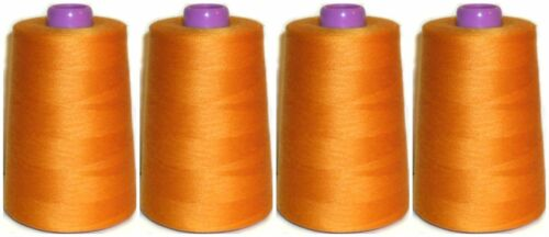 5000 YARDS X4 CONES TIGER 120s SEWING THREAD 100/% SPUN POLYESTER VARIOUS COLS