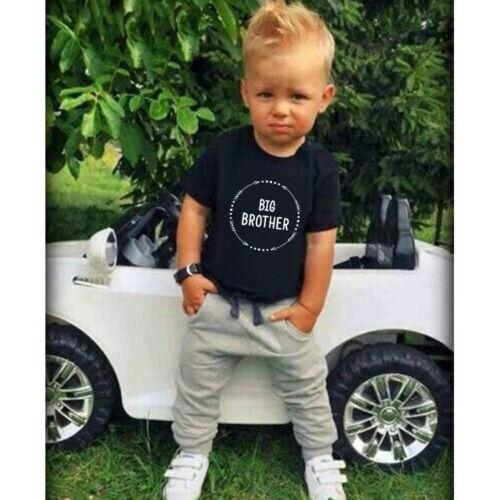 Newborn Baby Kids Little Brother Romper Bodysuit Big Brother  Cotton T-shirt