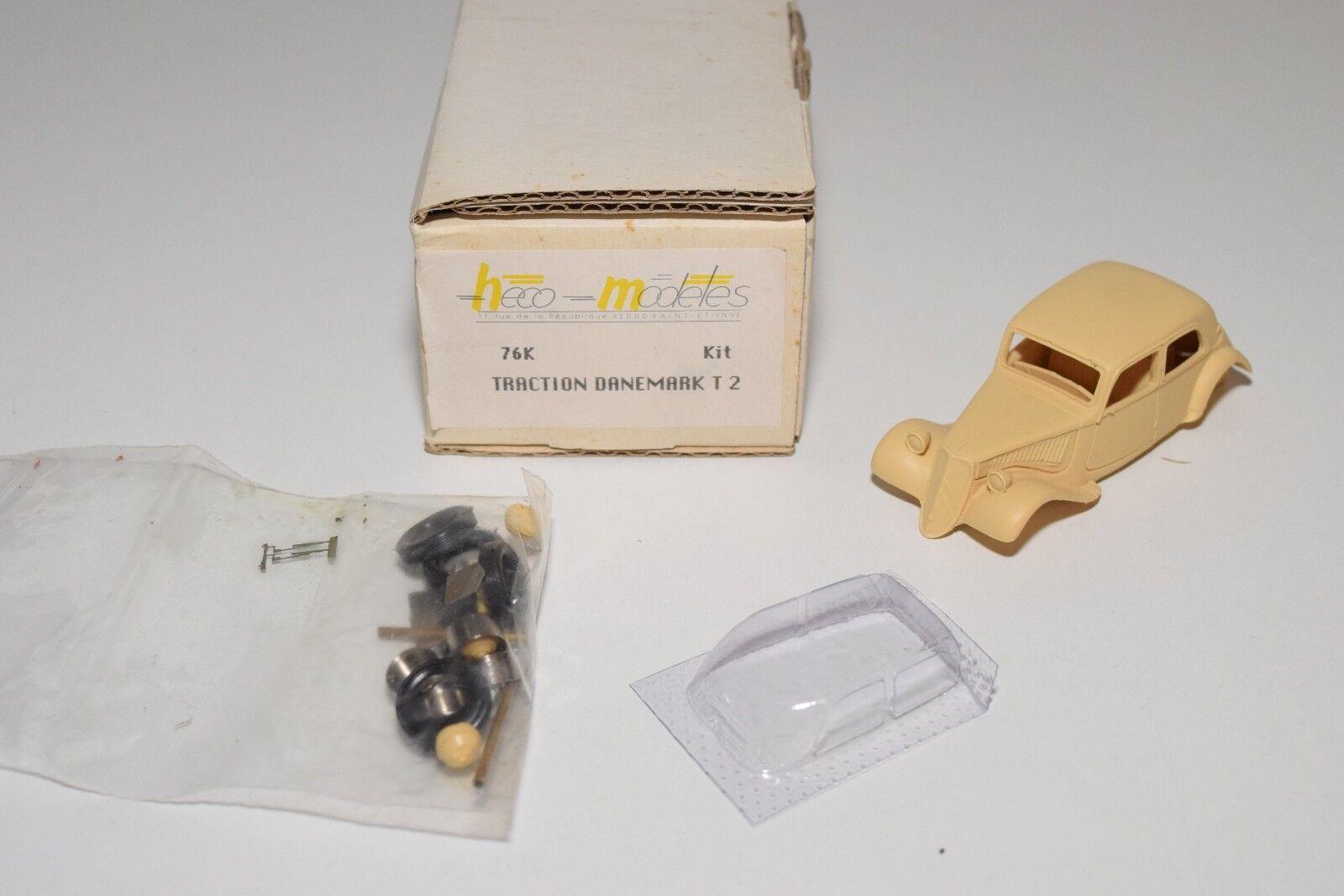 Z 1 43 RESIN KIT HECO MODELES 76K CITROEN TRACTION DANEMARK T2 MINT BOXED