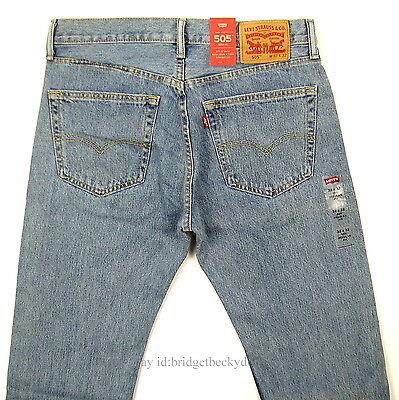 Levis 505 Jeans New Mens Regular Fit Straight Leg 29 30 31 32 33 34 36 38 40 42
