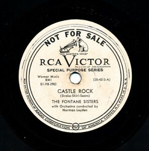 The-FONTANE-SISTERS-on-1951-RCA-Victor-20-4213-Promo-Castle-Rock