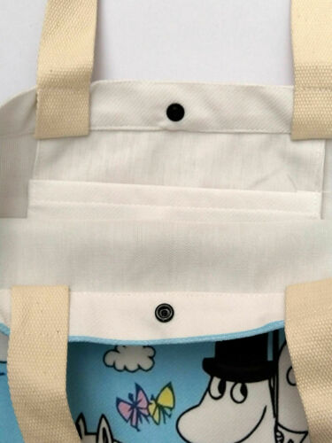 Moomin Valley Moomintroll Winter Tote Bag Soft Brushed Canvas Shopper Xmas Gift