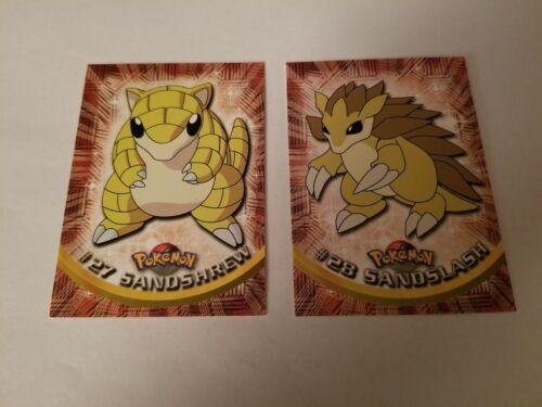 NM Series 1 Sandshrew and Sandslash Topps Pokemon Cards