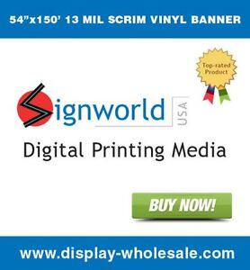 13 Oz Scrim Vinyl Banner 54 Quot X 150 Matte Roland Mutoh