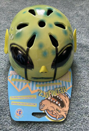 Safety Helmet New Ages 3 Kids Alien Bike Free Postage Skateboard