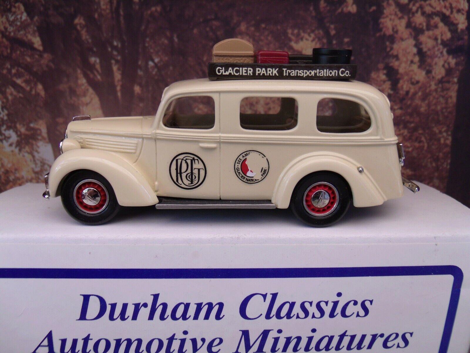 1 43  Durham classics Ford 1939 Tour Bus  Glacier transportation company 1914