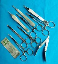 9 PCS SUTURE LACERATION MEDICAL STUDENT SURGICAL INSTRUMENTS KIT+5 BLADES#20