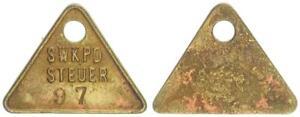 Deutsch-Südwestafrika (1904) Hundessteuermarke Swakopmund No. 97 VF XF (50222)