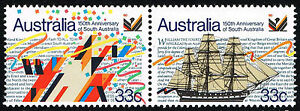 Aus 1986 Sc 974 975 Settlement Of South Australia Se-tenant Pairs = Mint Xf Nh