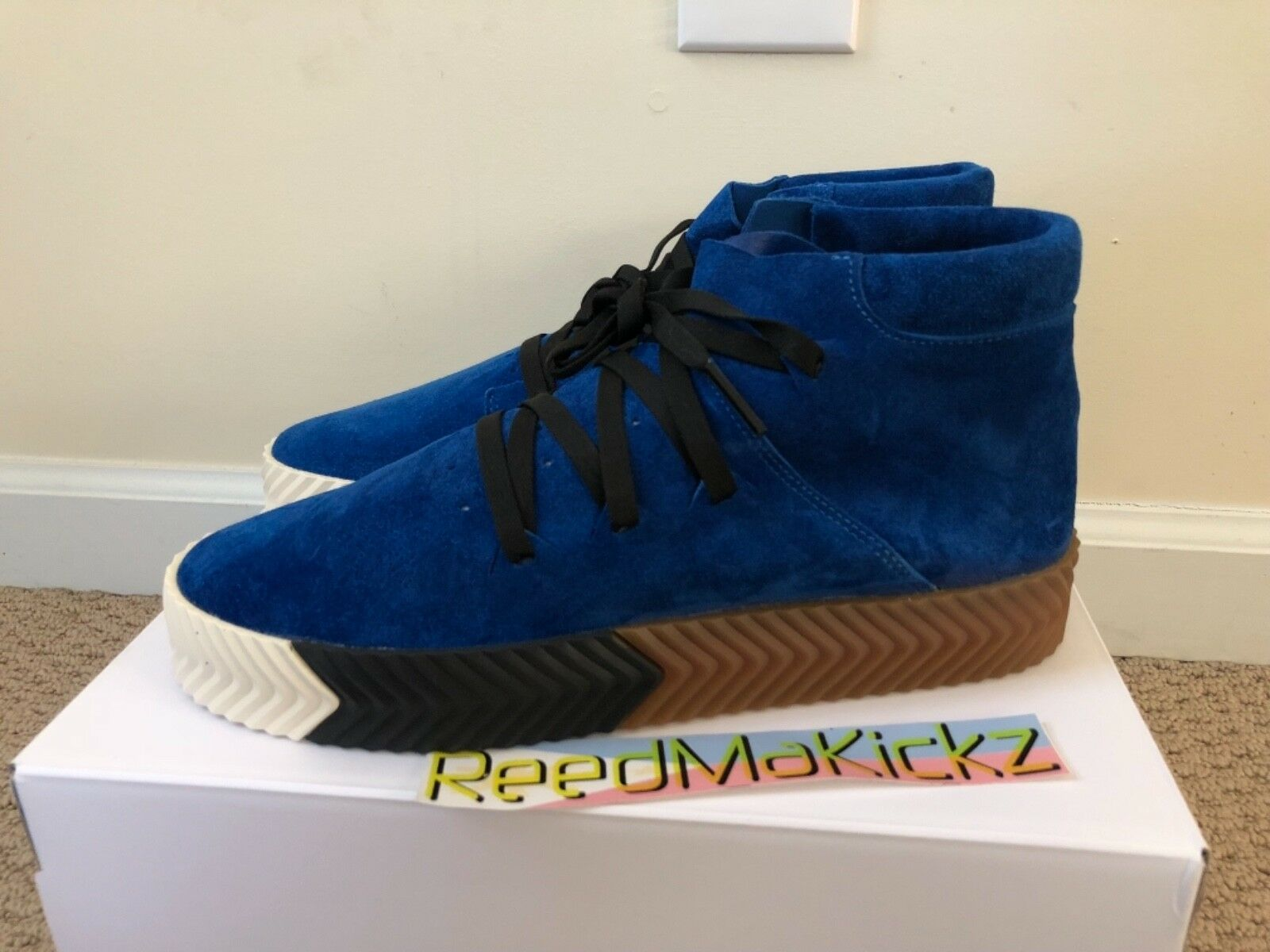 Adidas AW Skate Mid Alexander Wang Bluebird Core Black Mens sizes AC6849