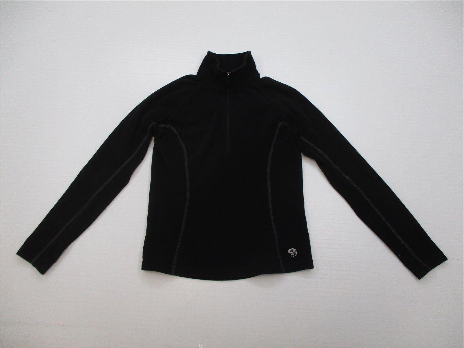 MOUNTAIN HARDWEAR Jacket Women's Size S Trail Black Microfleece Pullover