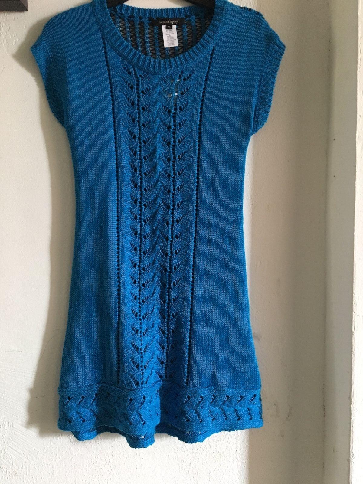 Nanette Lepore sweater Dress sz XS bluee